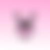 Lapin valentin et prénom thermocollants personnalisables