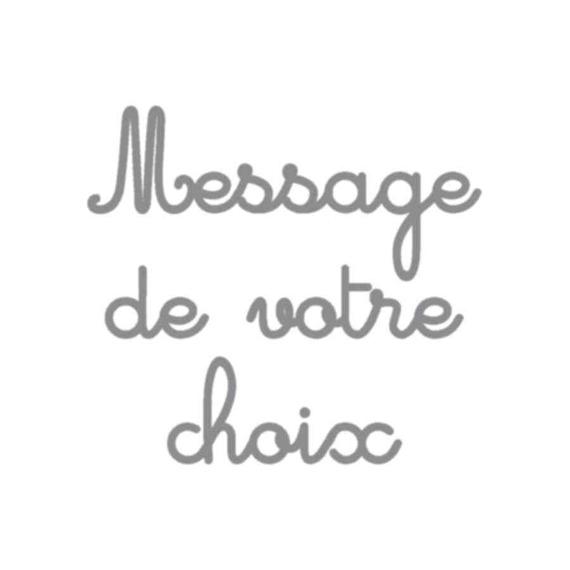 Appliqué thermocollant velours personnalisé message 30 caractères écriture 1