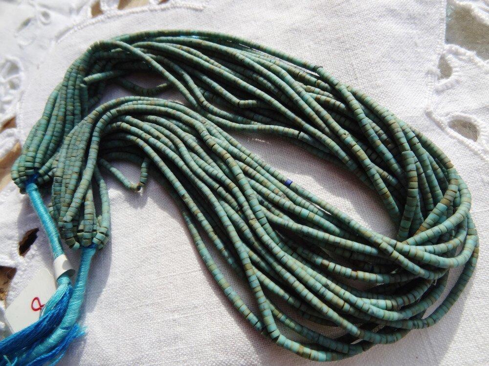 Fil perles turquoise heishi Arizona
