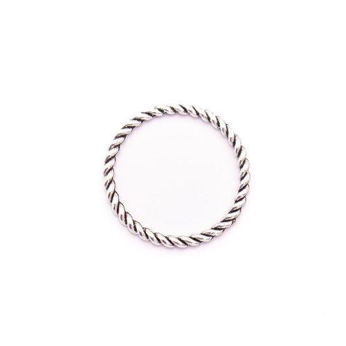 Lot de 3 anneaux argentés de 25mm