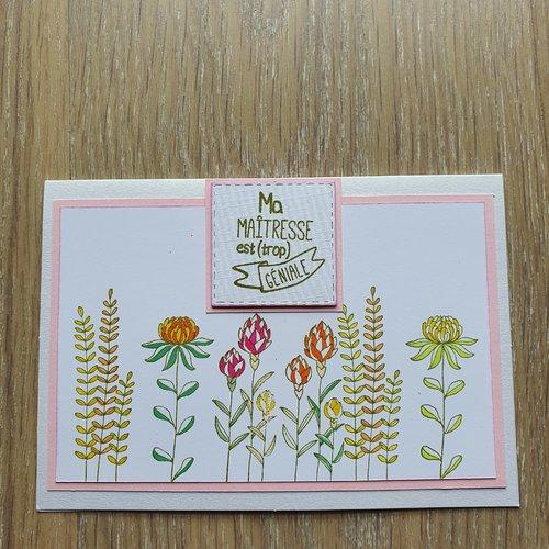 Carte maîtresse fleurs