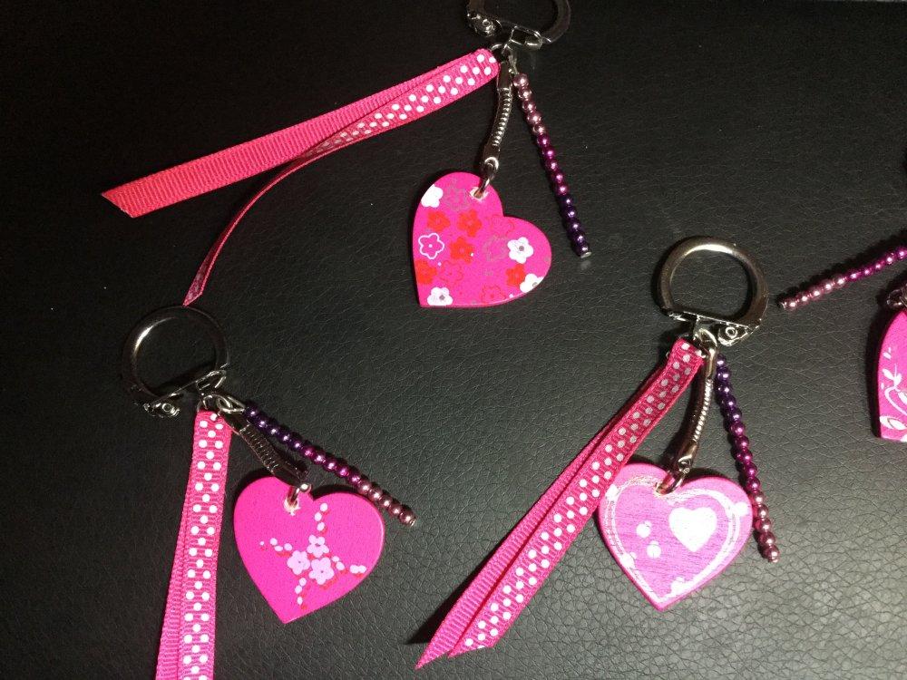 Porte clé bijou de sac coeur