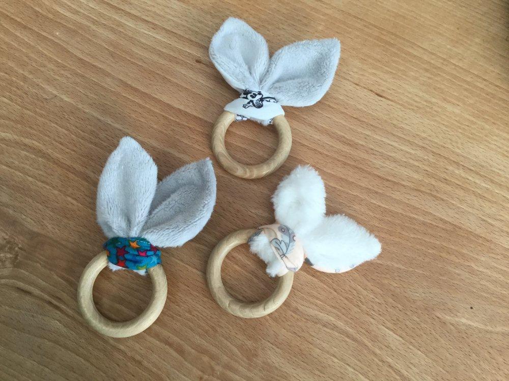 Hochet bébé oreilles de lapin