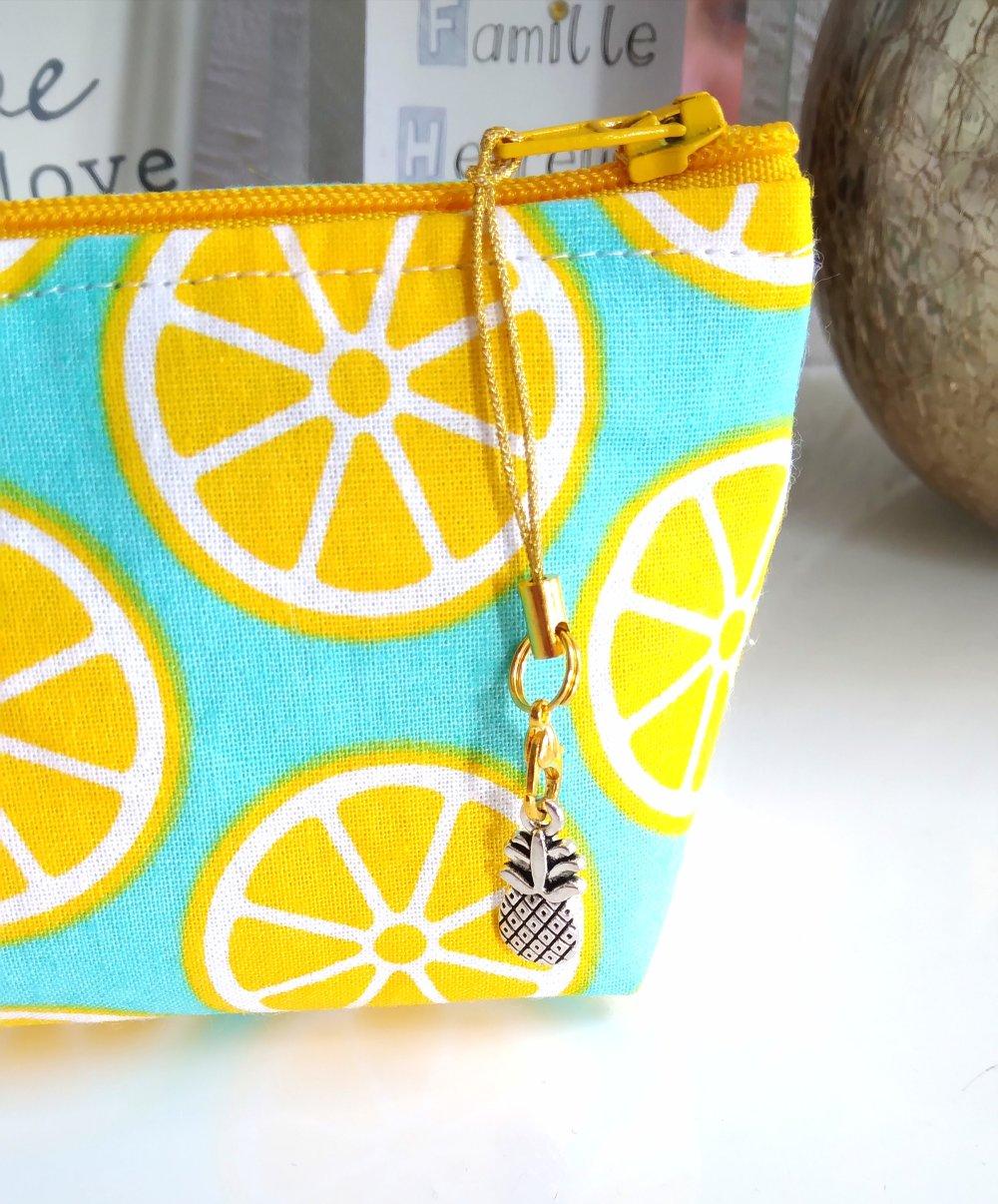 Trousse à crayons citron qui tient debout