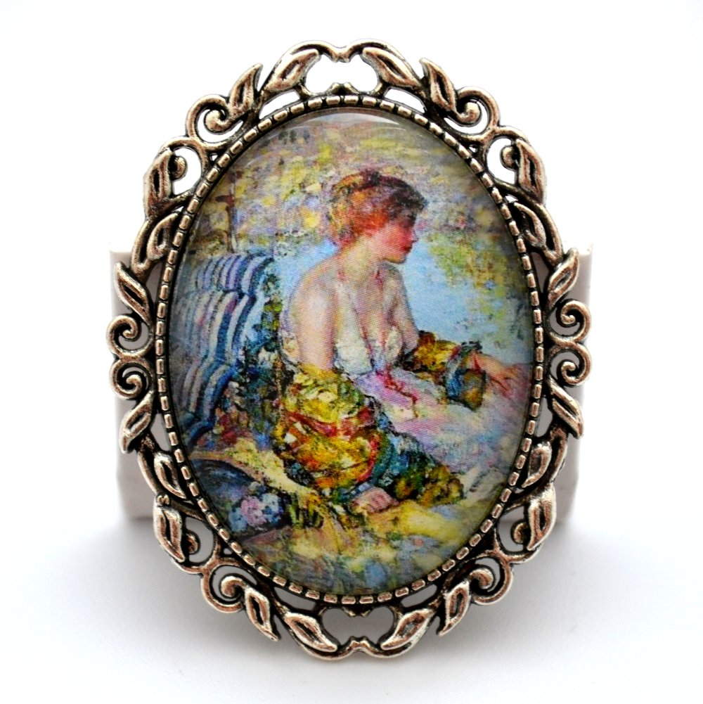 Broche épingle * Rêverie * impressionisme de Giverny