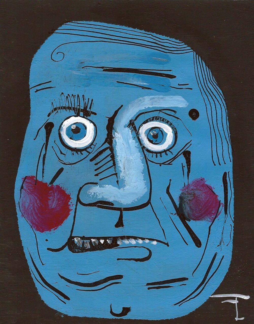 Peinture acrylique sur papier à dessin - signé - artiste Flavien Couche