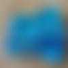 3 lingettes lavables en en bambou  coton bleu