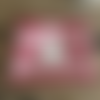 Trousse pochette  rouge rayé étoile