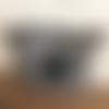 Pochette trousse black jack étoile simili cuir noire