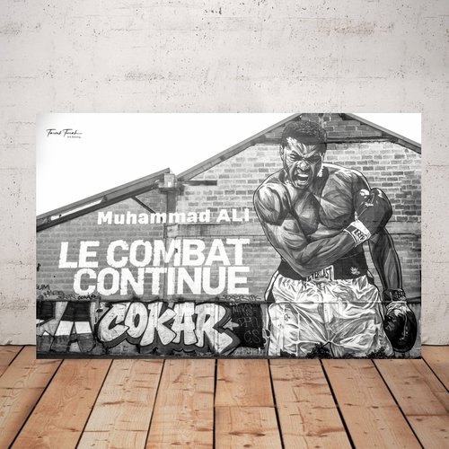 Photographie imprimée sur plexiglas 20 x 30 cm, street art, décoration murale