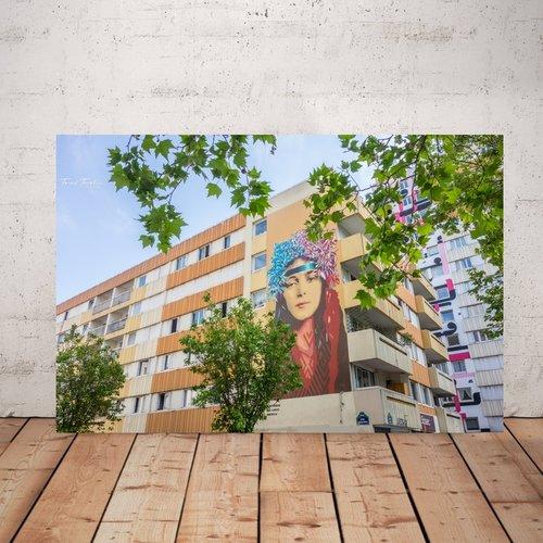 Photographie street art,  imprimée plexiglas 20 x 30 cm, décoration murale