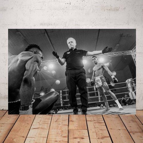 Photographie boxeur .  imprimée plexiglas 40 x 60 cm décoration murale