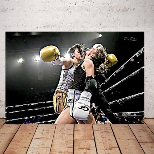 Photographie boxeur 2  imprimée plexiglas 40 x 60 cm décoration murale