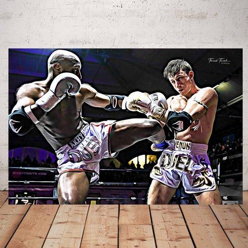Photographie boxeur 1  imprimée plexiglas 40 x 60 cm décoration murale