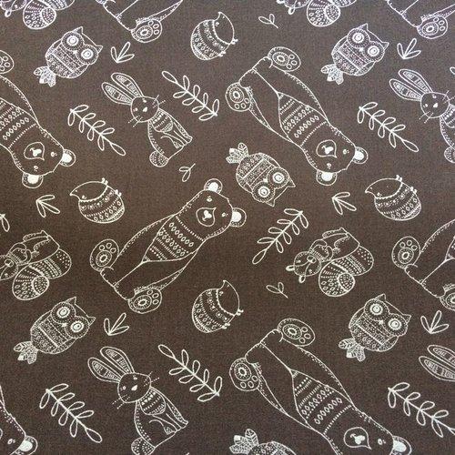Tissu designer agf ours 45x55cm