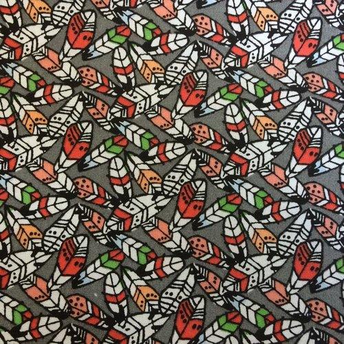 Tissu designer agf plumes 45x55cm