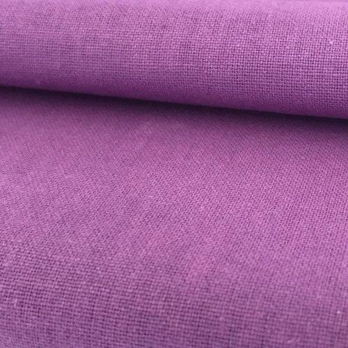 Tissu coton uni mauve 50x70cm
