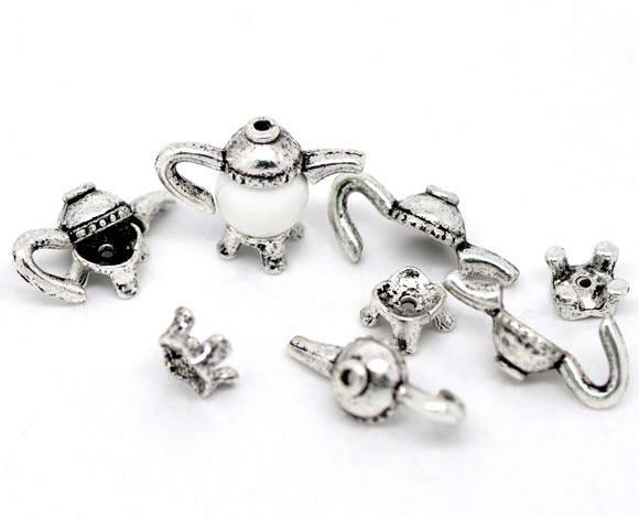 pr 8-10mm perle Gros Lots Perles Coupelle Théière21x11mm