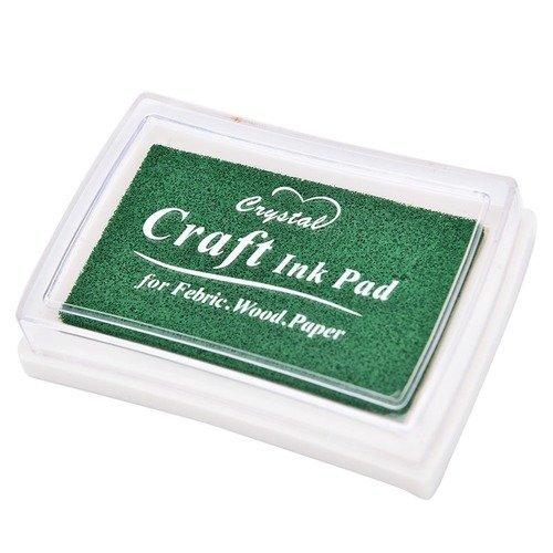 X 1 boite d' encre encreur craft vert pour tampon 7,5 x 5 cm