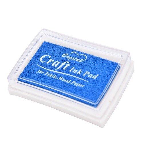 X 1 boite d'encre encreur craft bleu pour tampon 7,5 x 5 cm