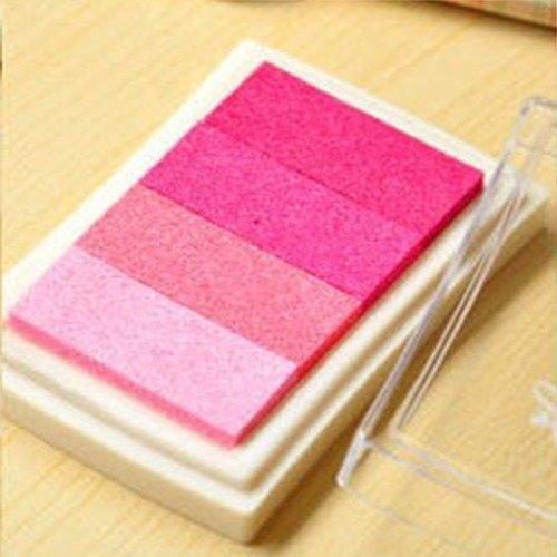 X 1 boite d'encre encreur dégradé de rose pour tampon 7,5 x 5 cm
