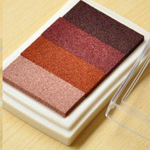 X 1 boite d'encre encreur dégradé de marron pour tampon 7,5 x 5 cm