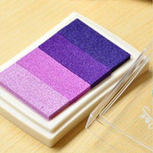 X 1 boite d'encre encreur dégradé de violet pour tampon 7,5 x 5 cm