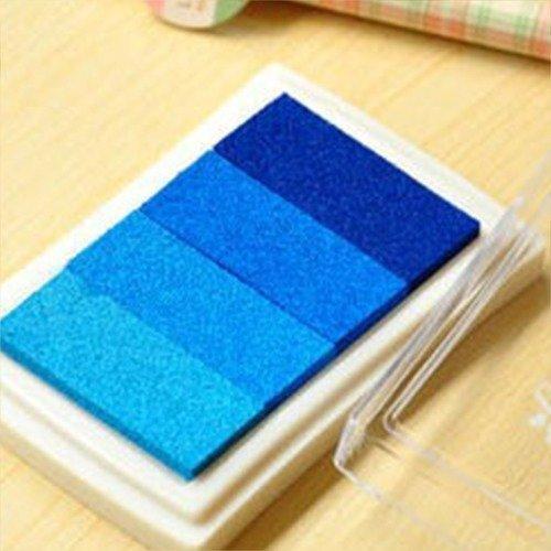 X 1 boite d'encre encreur dégradé de bleu pour tampon 7,5 x 5 cm
