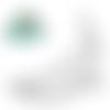 X 1 fermoir claps demi cercle  porte-monnaie/bourse fleur à coudre argenté 7,4 x 6 cm