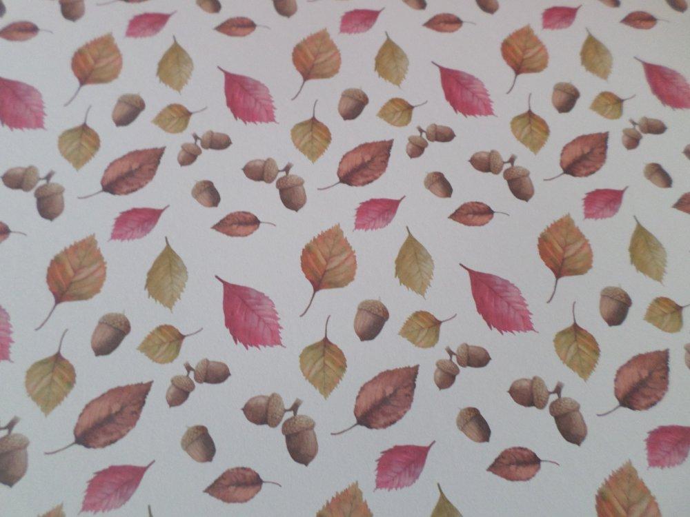 1 grand bloc de 24 mixte feuilles papier cartonné sur le thème Automne 30,5 x 30,5 cm