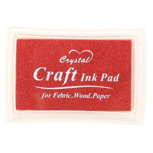 X 1 boite d'encre encreur craft rouge pour tampon 7,5 x 5 cm