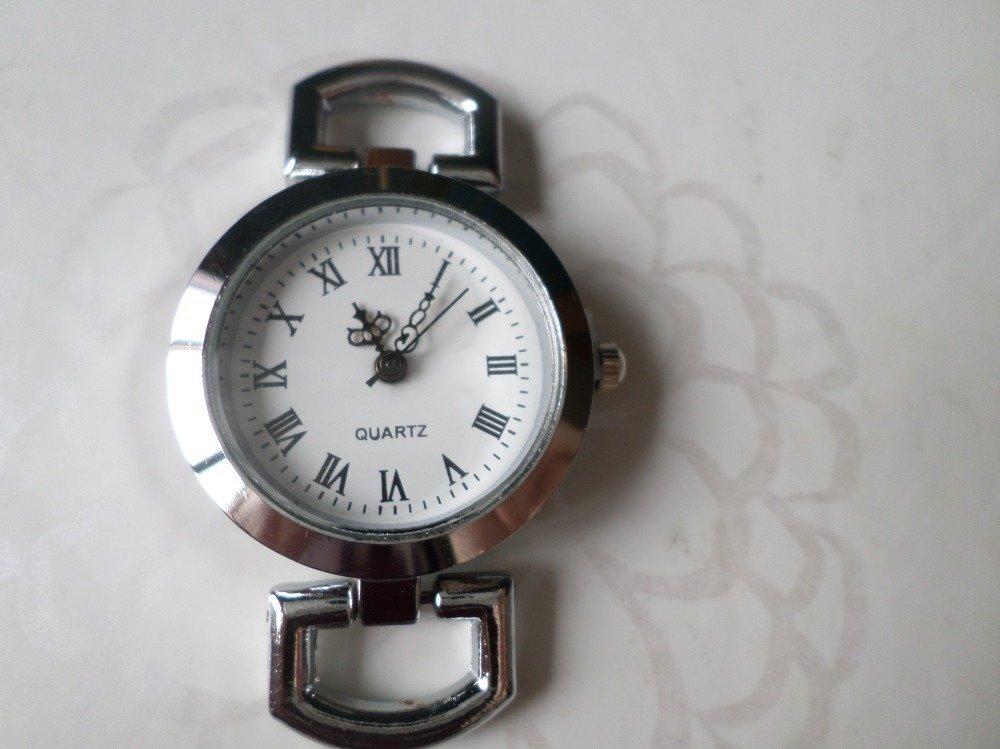 x 1 cadran de montre quartz rond chiffres Romain couleur argenté 48 x 30 mm(pile fournie)