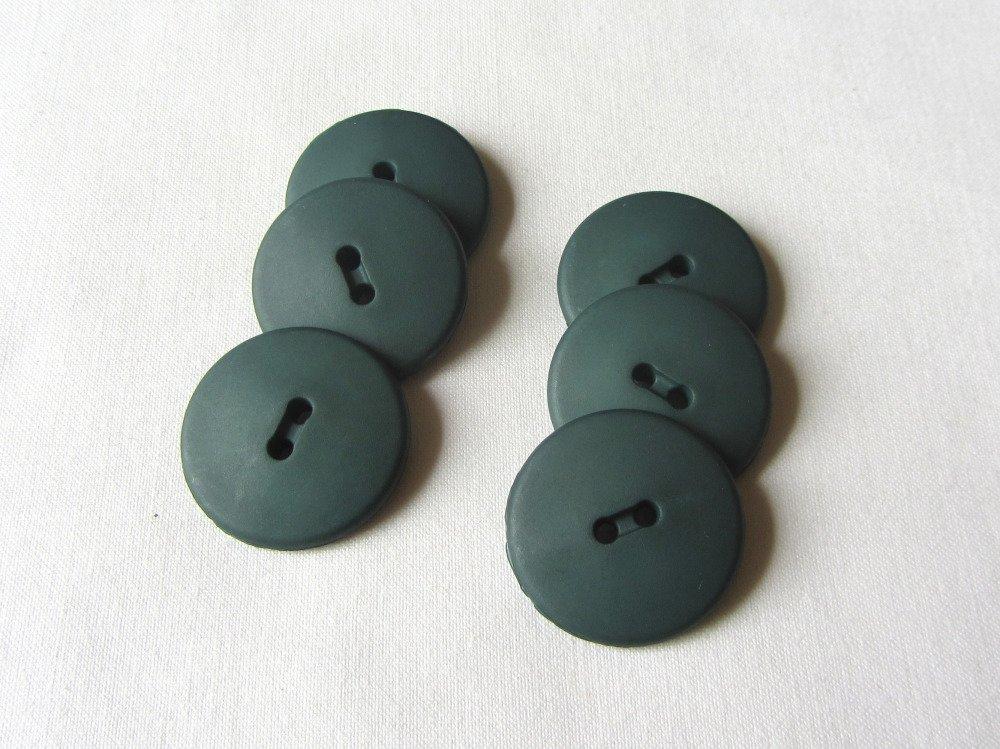 Lot 6 boutons vert foncé 25mm