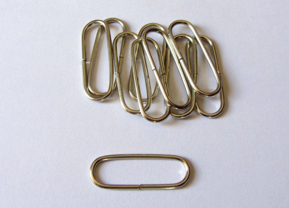Lot de 10 anneaux pour création de sac