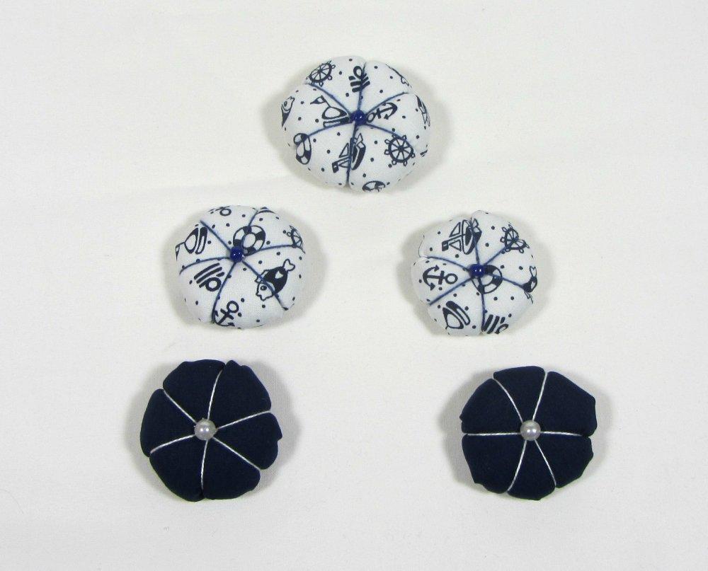 Lot de 5 fleurs japonaise pour vos créations thème marin