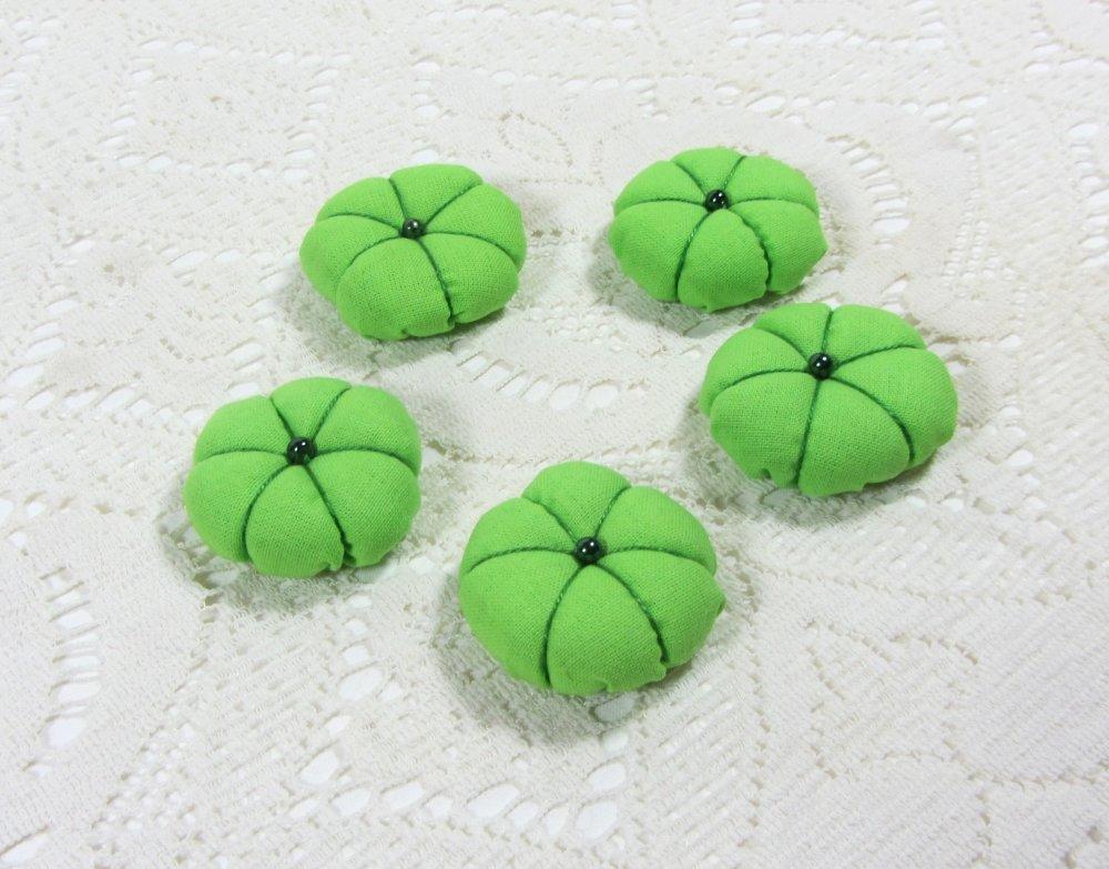 Lot de 5 fleurs japonaise verte pour vos créations