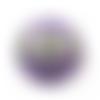 Bouton en verre tchèque libellule 40mm violine