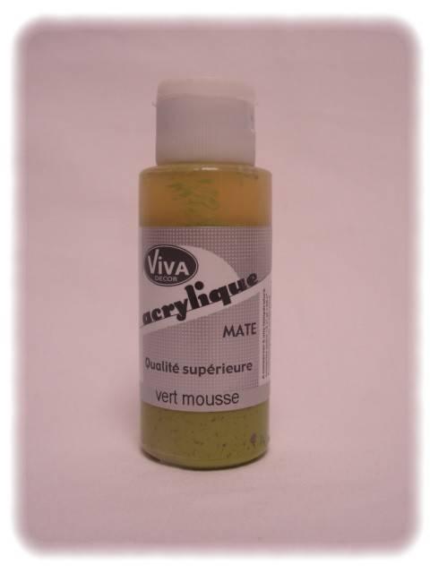 081022- peinture viva mat 60ml  vert mousse