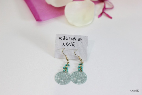bijoux fantaisie vert d eau