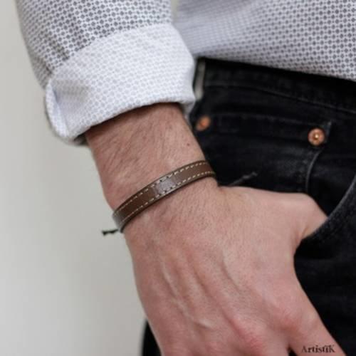 bracelet homme cuir pas chere