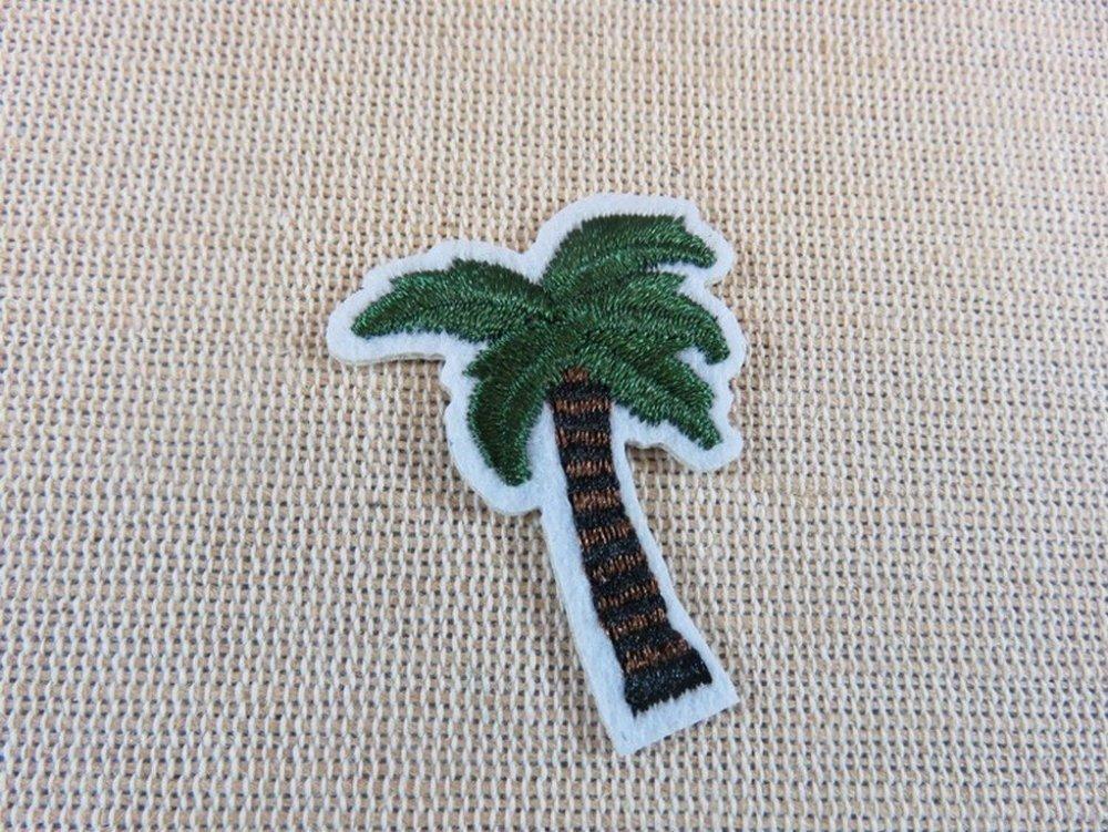Petit palmier Patch thermocollant Appliqué écusson arbre noix coco