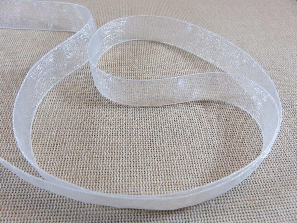 Ruban ORGANZA 16 mm 5 mètres couleur blanc