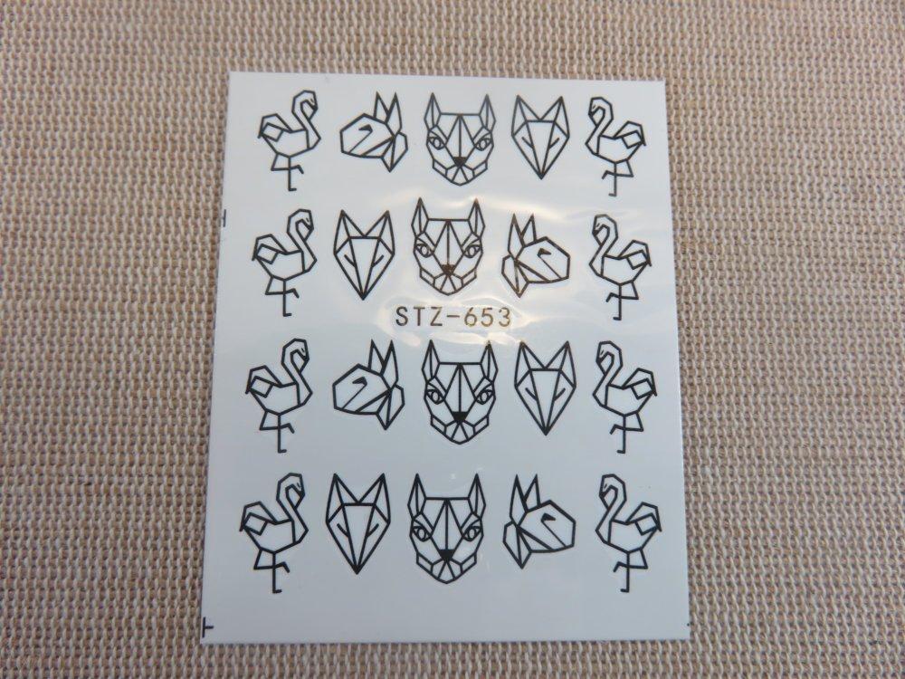 Stickers d'ongle Nails-Art décalcomanie autocollant par transfert d'eau