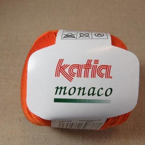 Fil coton katia monaco orange pelote fils 100% coton mercerisé