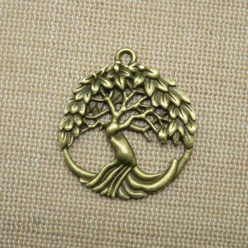 Pendentif arbre de vie ajouré bronze 33mm