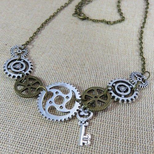 steampunk femme collier