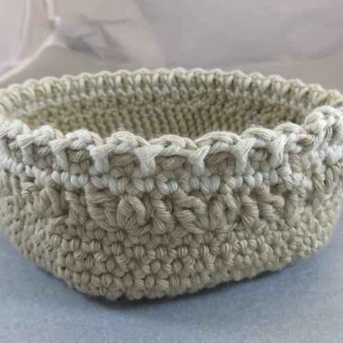 Panier Souple Crocheté Coton Décoration Salle De Bain Un Grand Marché