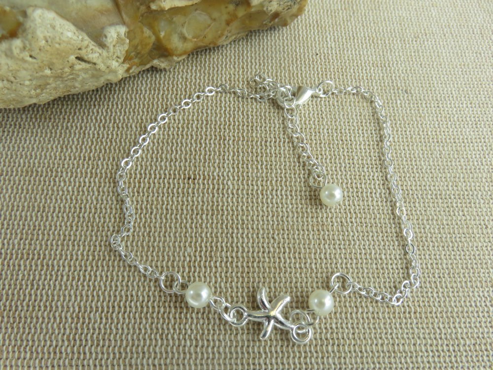 Bracelet de cheville style bohème chaîne de pied étoiles de mer - bijoux femme et fille