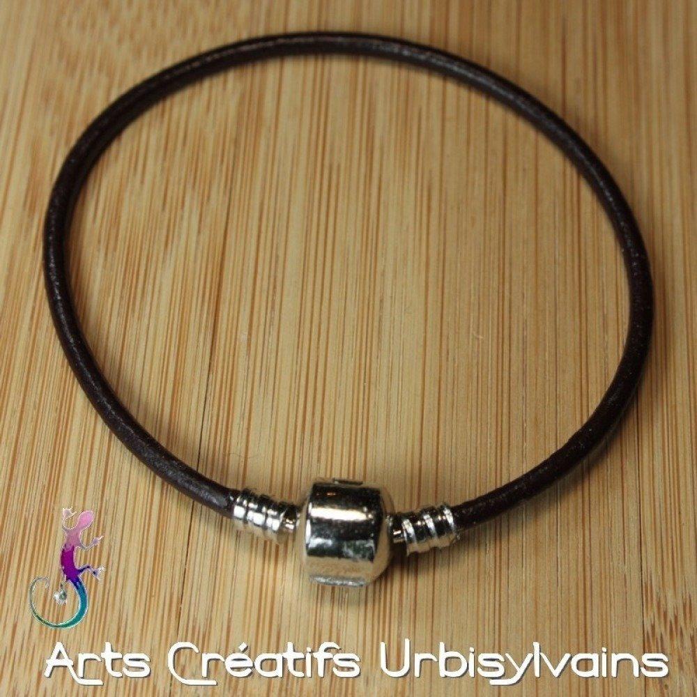 pandora bracelet cuir marron