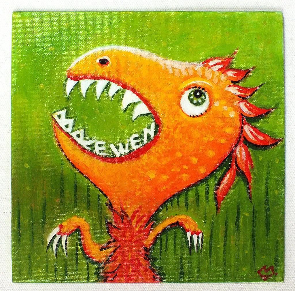 Dinosaure - peinture personnalisable à l'acrylique sur toile